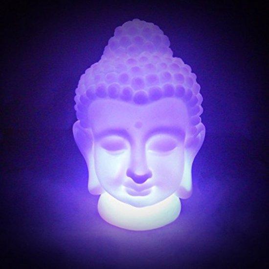 Boeddha Met Led Verlichting.Multicolor Buddha Led Lamp Boeddha Beeld Tafellamp Boeddha Hoofd Decoratie Verlichting