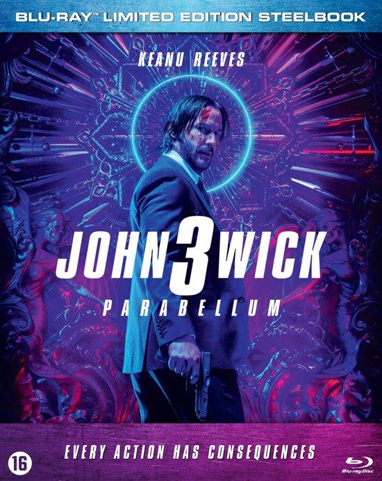 DVD cover van John Wick 3 (Blu-Ray) Steelbook