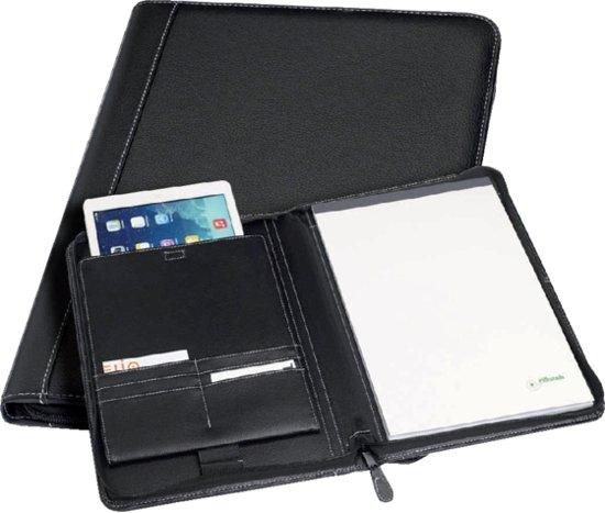 Schrijfmap Rillstab iPad Geneve A4 lederlook zwart