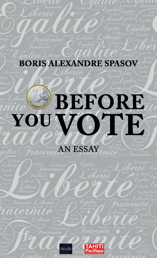 Boek cover 1 Euro Before You Vote van Boris Spasov (Onbekend)