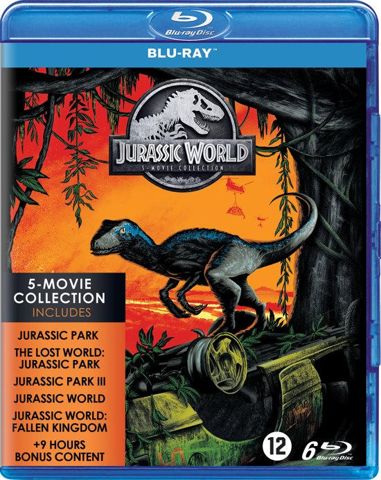 DVD cover van Jurassic Park - 1 t/m 5 Collection (Blu-ray)