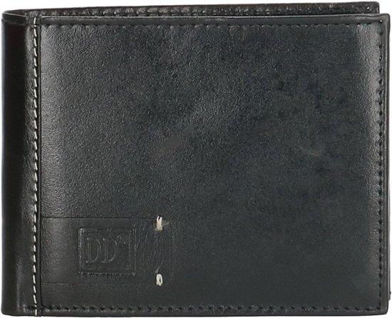Leren heren portemonnee, zwart – Double D