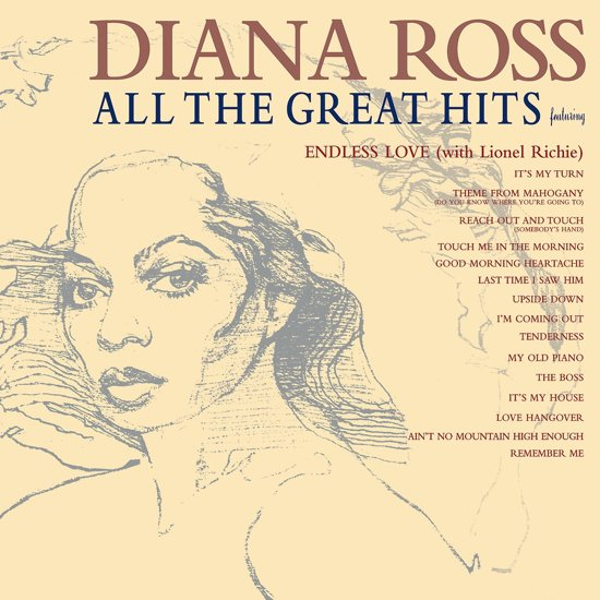 CD cover van All The Greatest Hits van Diana Ross