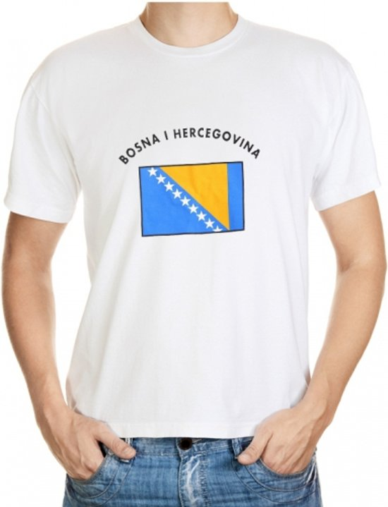 Bosnia and Herzegovina t-shirt met vlag S