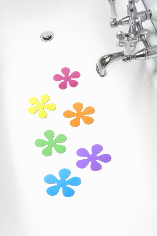 Papillon - Antislip Douche Bloemen - Multi - Set van 6