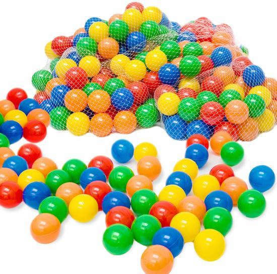 LittleTom 200 Baby Ballenbak Ballen - Ø 5,5cm - SGS-certificaat vanaf 0 Jaar - Multicolor Mix - gekleurde Kunststof Speelballen voor Binnen en Buiten