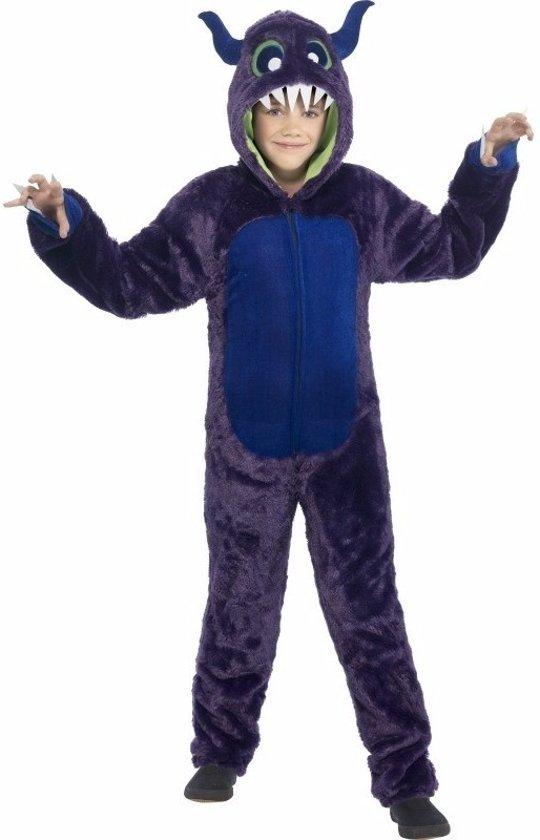 Paars monster kostuum voor kinderen - Halloween outfit 145-158 (10-12 jaar)