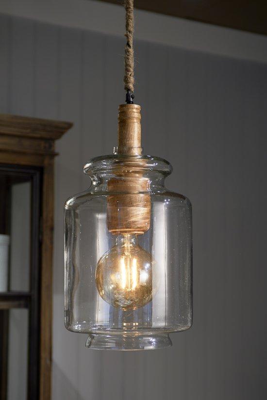 bol | riviera maison bilbao hanging lamp - hanglamp - hout