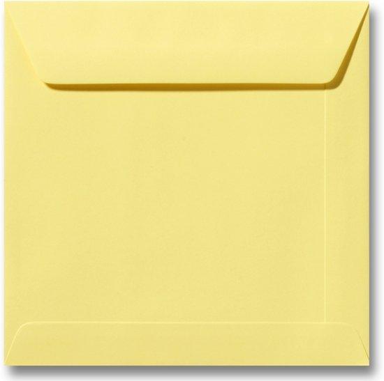 Envelop 22 x 22 Kanariegeel, 25 stuks