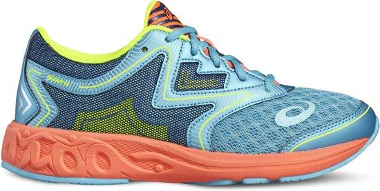 Asics Noosa Hardloopschoenen Junior  Sportschoenen - Maat 37 - Unisex - blauw/rood/groen