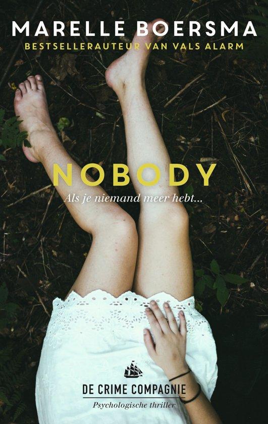 Boek cover Nobody / druk Heruitgave van Marelle Boersma (Paperback)