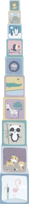 Afbeelding van Little Dutch Stapelblokken dierentuin karton speelgoed