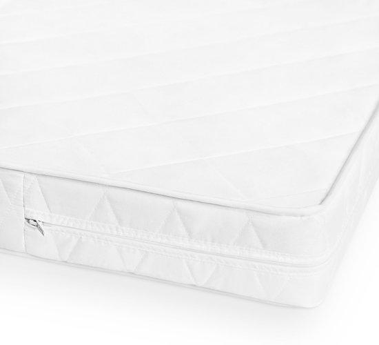 Matras - 60x120  - comfortschuim - microvezel tijk - wit neu