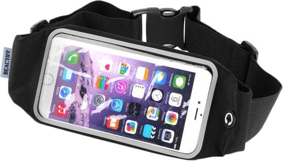 Sport heupband (M) sportband voor Smartphones, goed verstelbare riem, o.a. sporten met de iPhone 4/4s/5/5c/5s/SE/6/6s/7/7s/8, Galaxy S4mini/S5mini/A3/Ace 2/3/4 en vele anderen: max. maat +/- 138 x 67mm, zwart , merk BEACTIFF