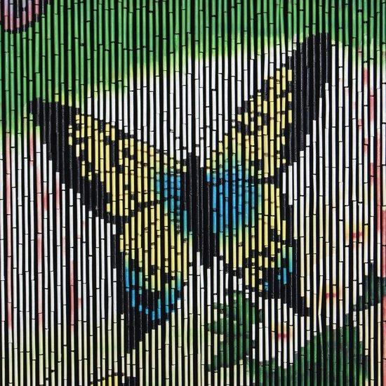 Vliegengordijn Met Print.Bamboe Vliegengordijn Vlinder 90 X 200 Cm