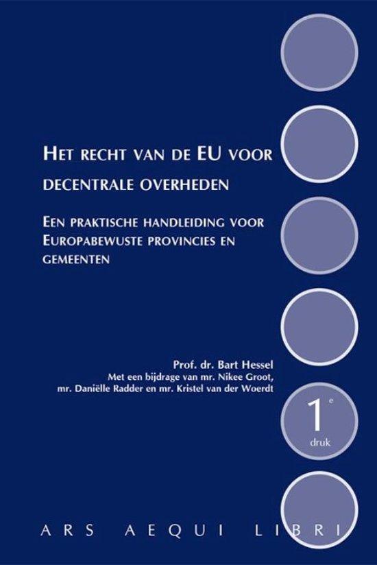 Ars Aequi Handboeken Het recht van de EU voor decentrale overheden