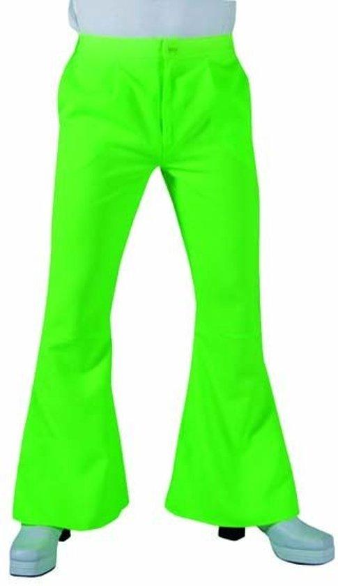 Jaren 80 & 90 Kostuum | James Brown Wijde Pijpen Soul Broek Groen Man | XL | Carnaval kostuum | Verkleedkleding