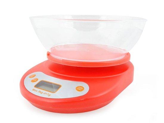 Elektronische Digitale Precisie Keuken Weegschaa Met Kom -  5 Kilo - Inclusief Batterijen - 1 Gram Nauwkeurig
