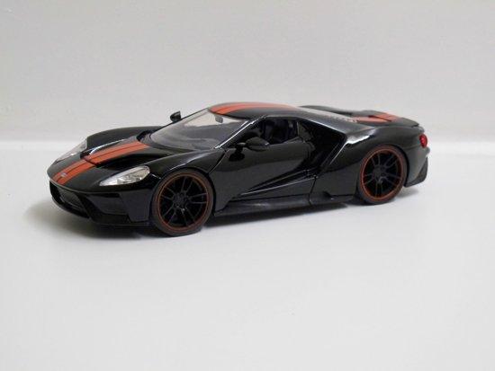Jada Toys   Ford Gt Zwart Met Oranje Streep