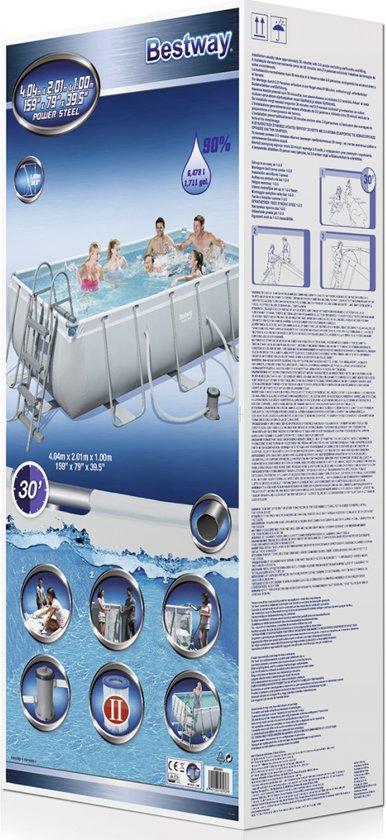 Bestway Power Steel zwembad stalen frame 404 x 201 x 100 cm