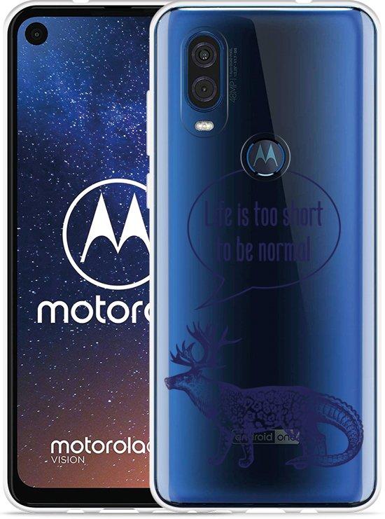 Motorola One Vision Hoesje Life is too Short