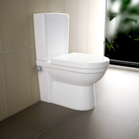 Toilet Duoblok Aanbieding.Bol Com Sanitear Trone Antikalk Duoblok Staand Toilet Met