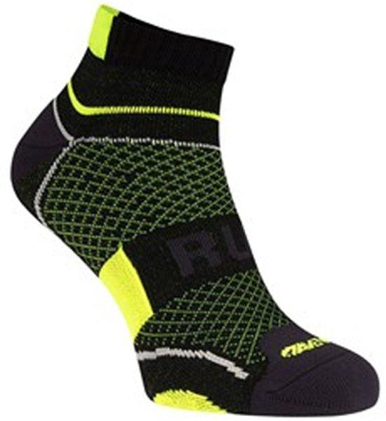 Hardloopsokken - running sokken - met climayarn – 3D zone - zwart/geel - maat 35/38
