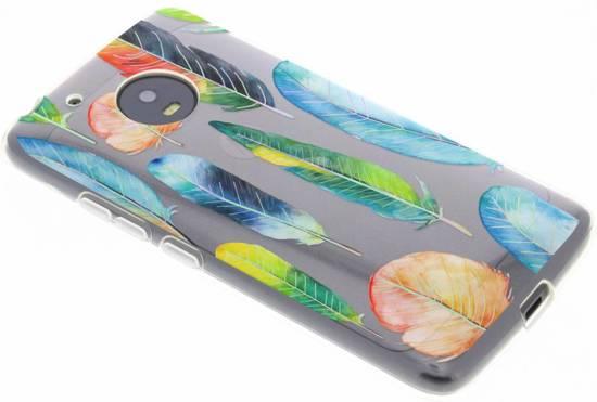 Cas Holographique Plumes Pour Motorola Moto G5, Plus