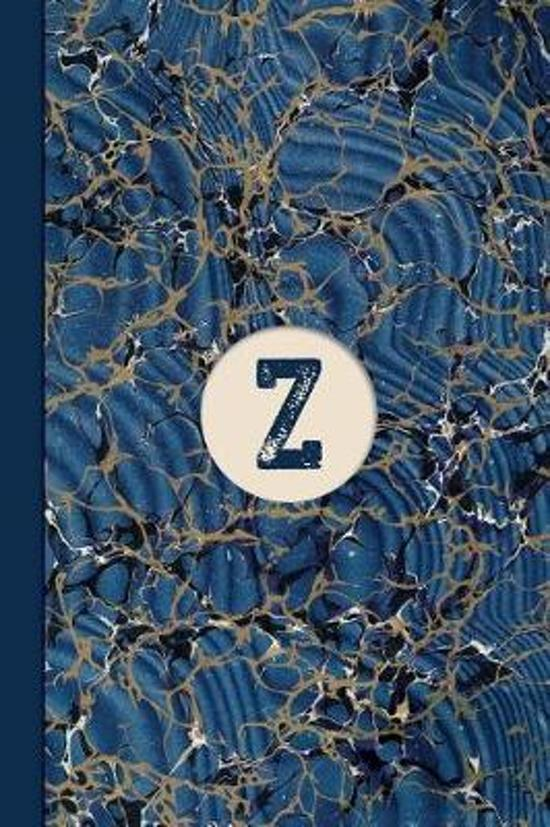 Monogram Z Marble Notebook (Blue Ginger Edition)