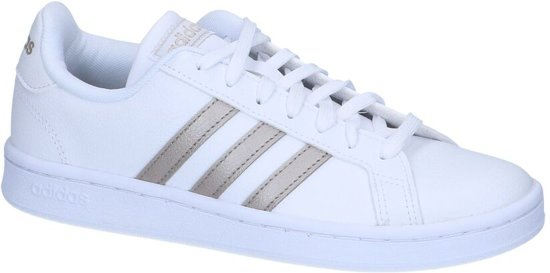 a674810a83a bol.com | adidas Grand Court Sneakers Dames - White - Maat 38 2/3
