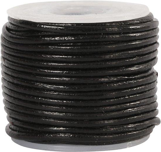 Leerkoord,  1 mm, zwart, 10 m