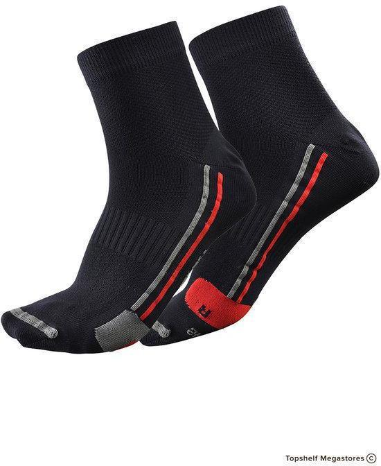 Falcon Technical Runnig Sock - hardloopsokken - mt 43/46 - zwart