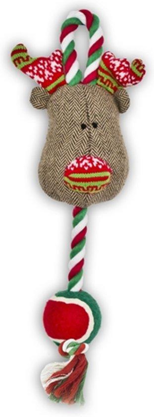 Festive Rendier Werptouw Met Tennisbal Speelgoed K 52 cm