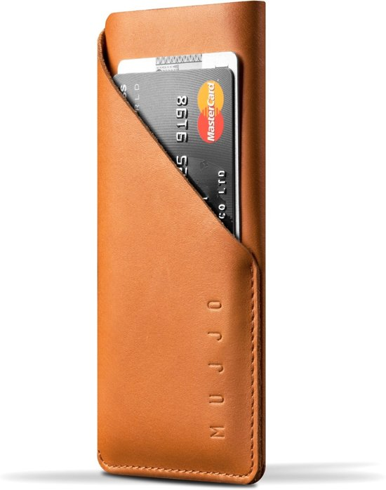 Mujjo Leather Wallet Sleeve for iPhone 8 / 7 Tan