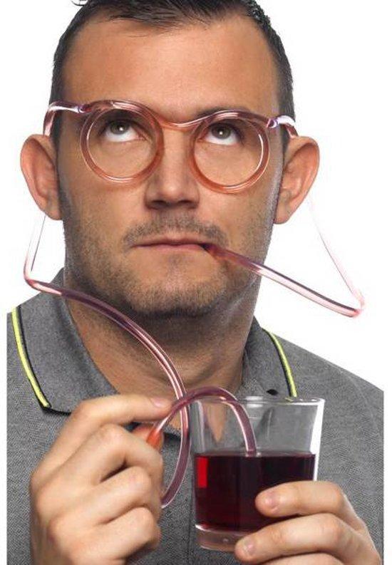 LeuksteWinkeltje Drink bril rietje Helder
