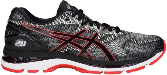 Asics Gel-Nimbus 20 Hardloopschoenen Sportschoenen - Maat 44.5 - Mannen -  zwart/wit/rood