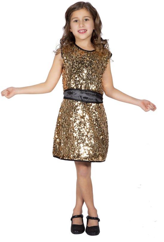 Jaren 80 & 90 Kostuum | Disco Queen Donna Summer Dans | Meisje | Maat 128 | Carnaval kostuum | Verkleedkleding