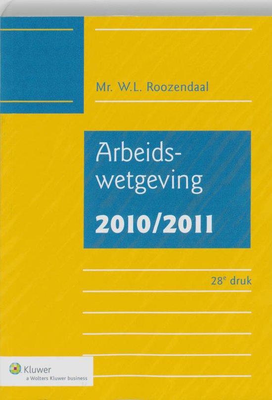 Boek cover Arbeidswetgeving van W.L. Roozendaal (Onbekend)