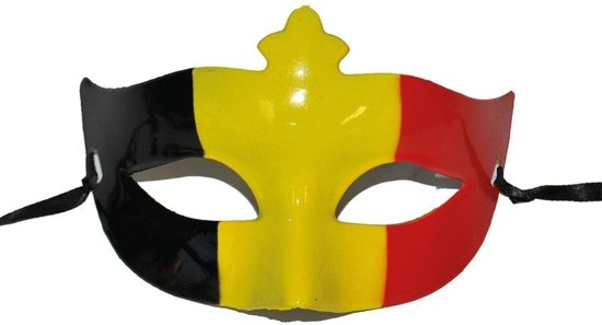 België Oogmasker - Zwart/Geel/Rood