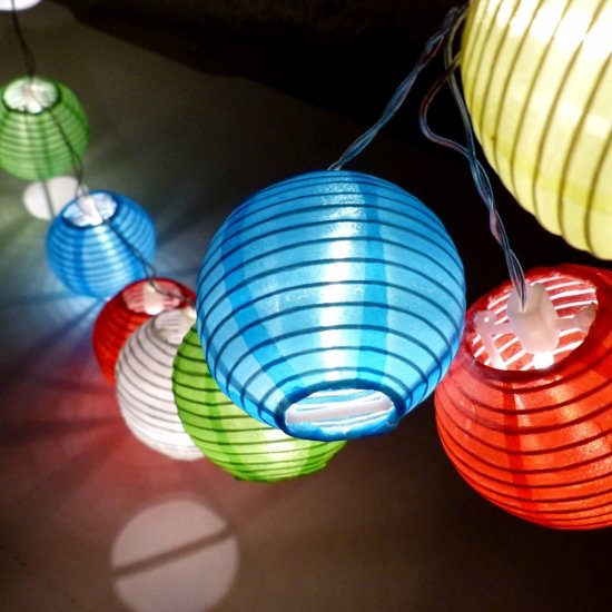 feestverlichting mini lampions led