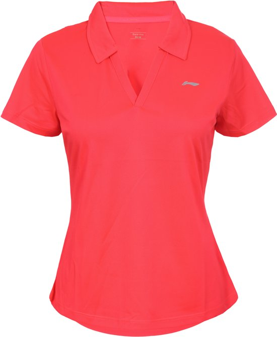 Li-Ning Marge Sportpolo Dames - Coral-Red S