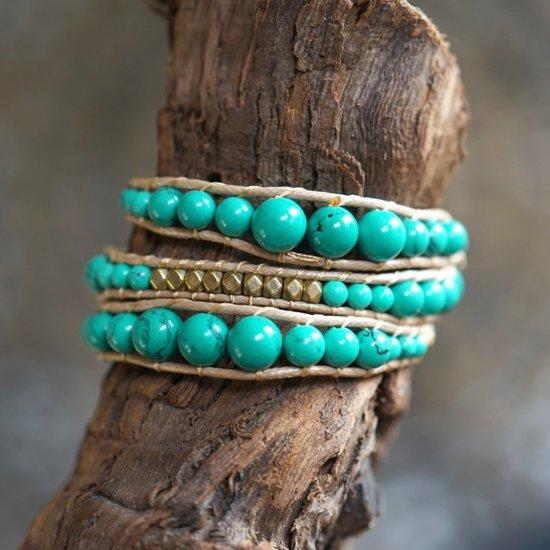 Wrap armband Turquoise