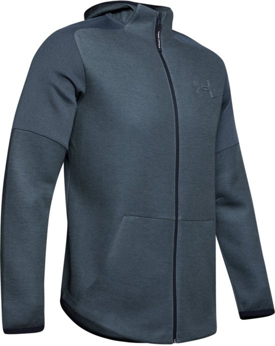 Under Armour Unstoppable Move Light FZ Heren Sport Vest - Wire Full Heather - Maat M