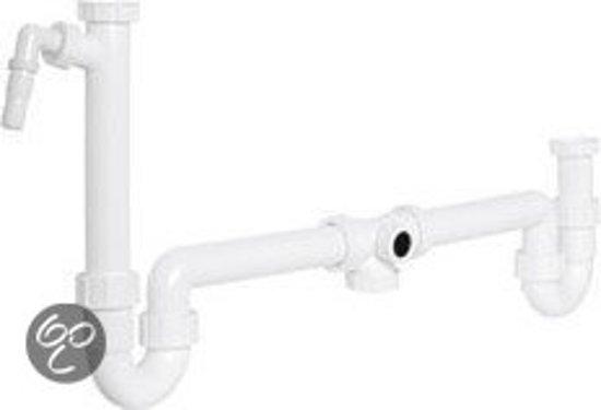 Duplex Sifon 6/4X40Mm Wit Pl,Komo M/Wasm,3245000Sb02