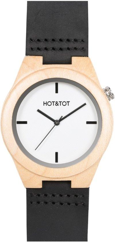 HOT&TOT Amici Nero - Houten horloge - Beige - Wit - Bruin - ø 38 mm