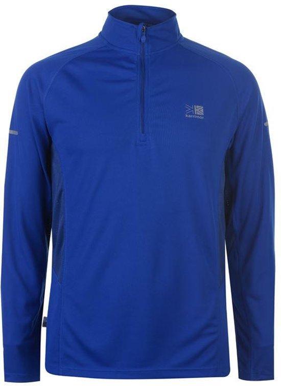 Karrimor Hardloop shirt lange mouw ¼ Zip - Runningshirt - Heren - Cobalt blauw - XXL