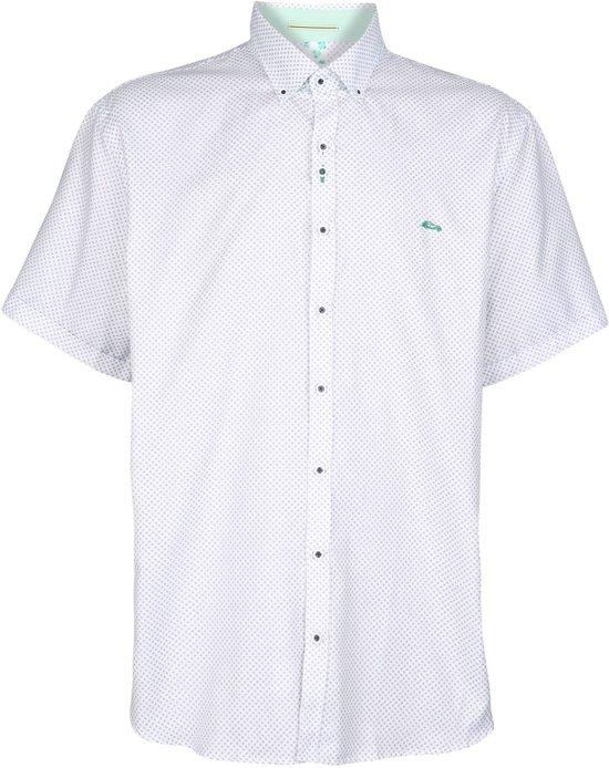 Korte Gewerkt Beltran Grote Wit Belem Blauw MaatDario 4xl Overhemd Mouw WHED29I