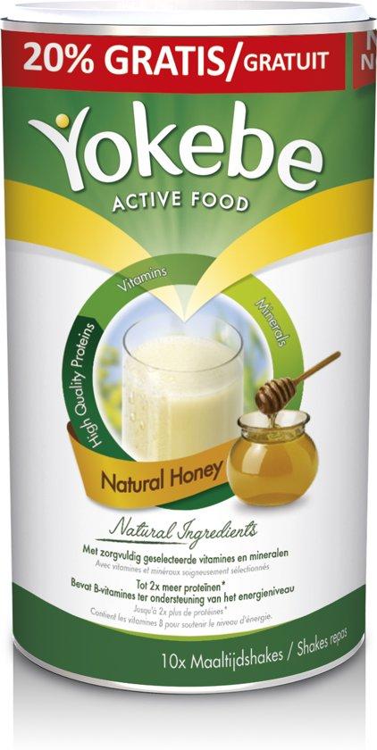 Yokebe Natural Honey Maaltijdshake - Helpt bij afvallen -  Maaltijdvervanger - 500 gram - 10 porties