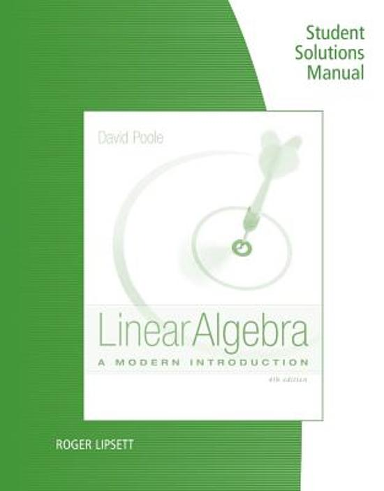 Student Solutions Manual For Poole S Linear