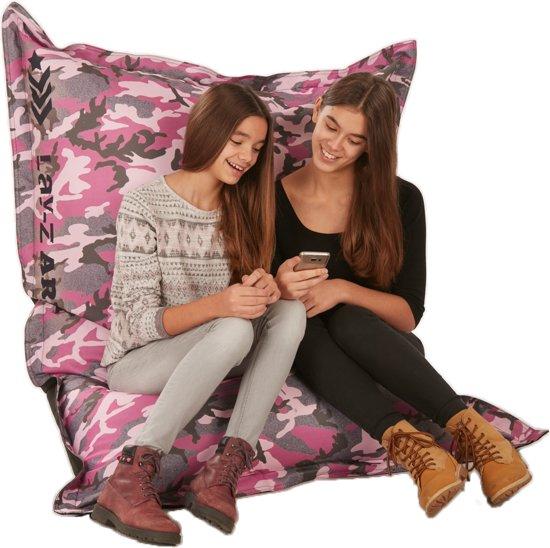 Zitzak Voor Meisjes.Lay Z Zitzak Leger Camouflage Roze